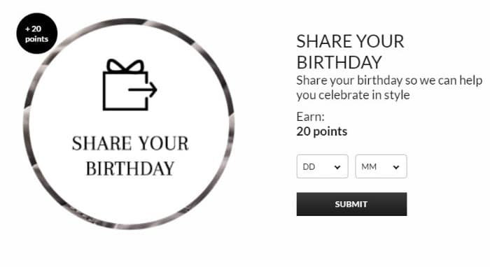 share your birthday with asda george rewards
