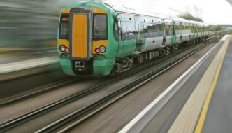 train travelling fast