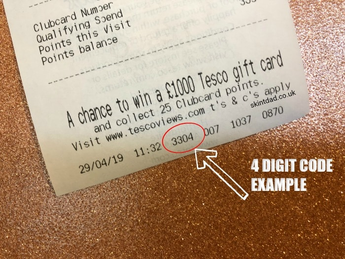 Tesco receipt