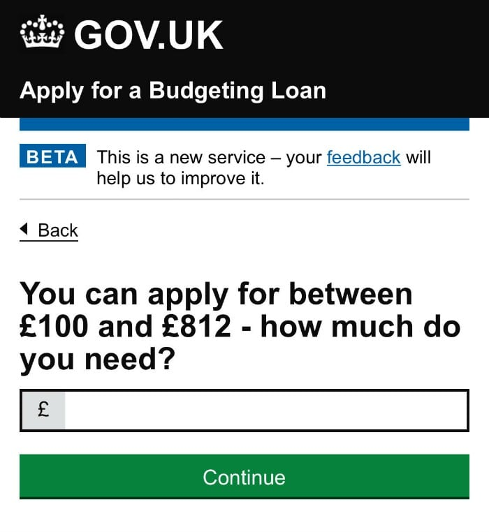 budgeting loan application