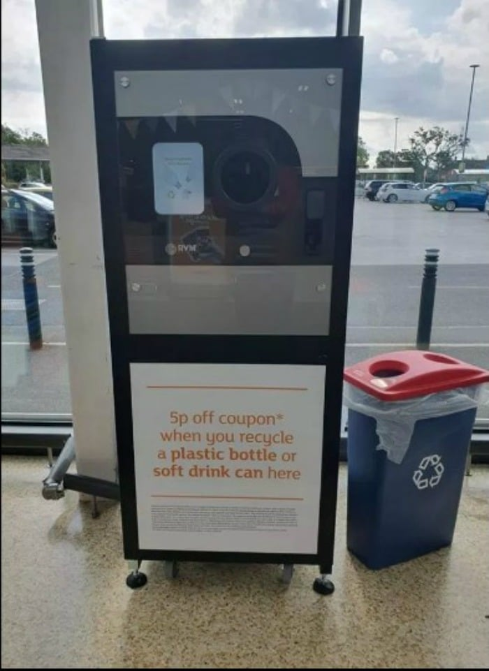 sainsbury's reverse vending machine