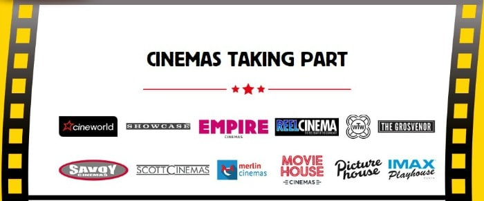 sweet sundays cinemas participating