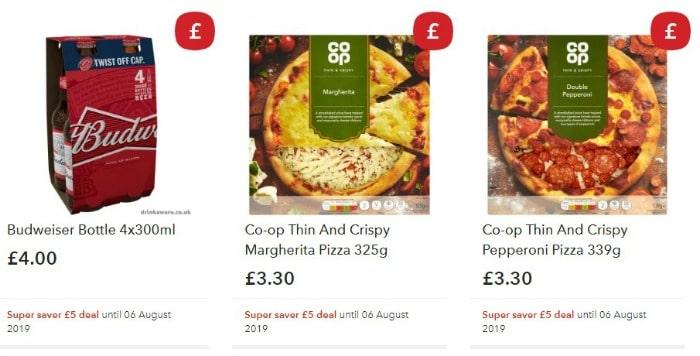 Co-op super saver £5 meal deal