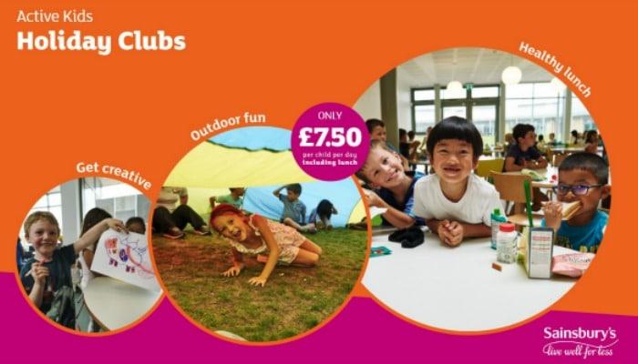 sainsburys active kids holiday clubs
