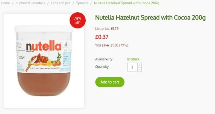 flavva discounted nutella