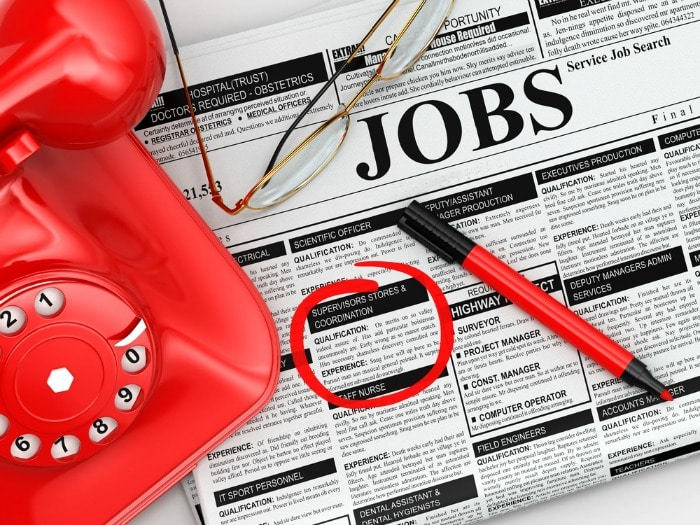 job adverts in paper