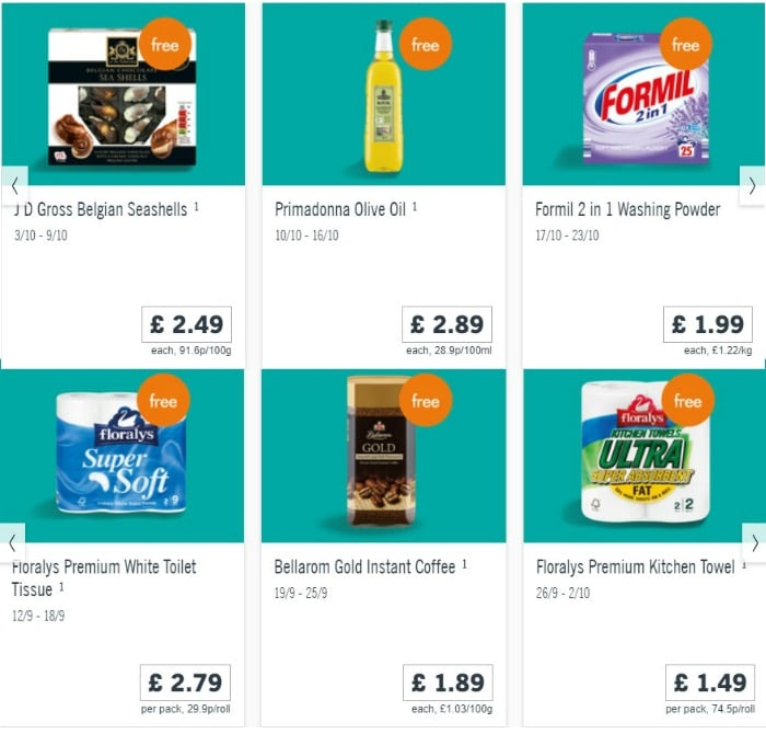 lidl welcome card free items
