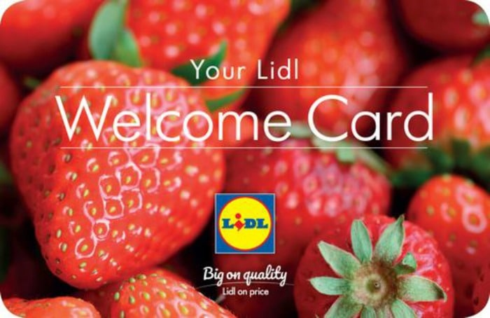lidl welcome card