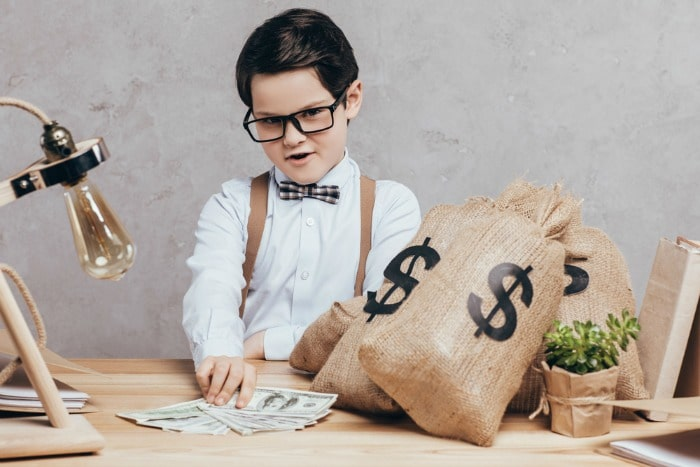 young child with money