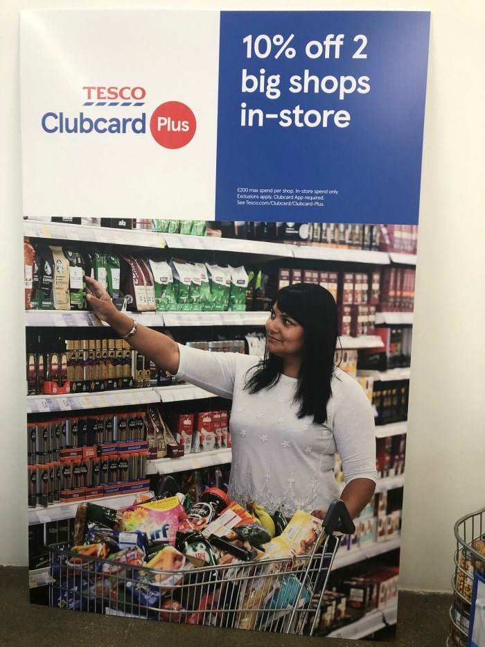 Tesco clubcard plus 10 pc big food shop