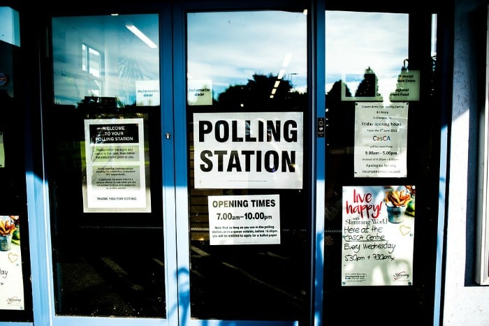 doors at polling station