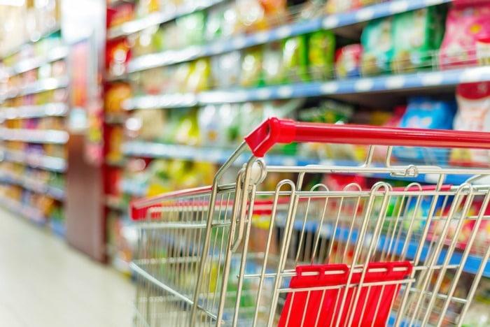 red shopping cart