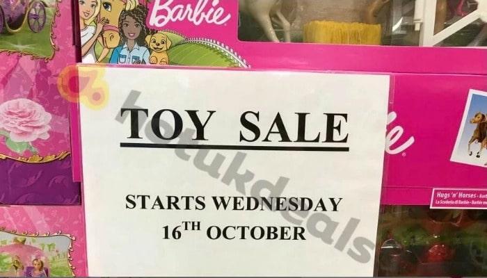 sainsburys half price toy sale october 2019