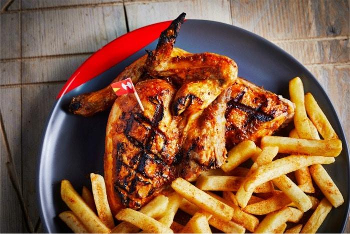 Half PERi-PERi Chicken and PERi-Salted Chips