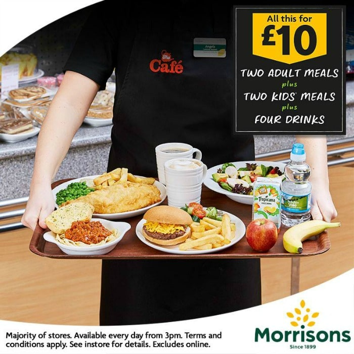Morrisons family teamtime meal deal