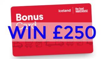 WIN £250 with an Iceland bonus card