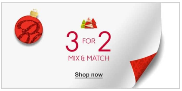 boots 3 for 2 on mix and match