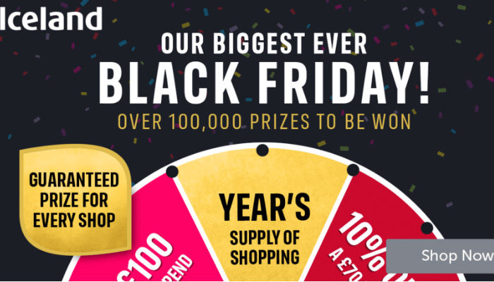iceland prizes black friday