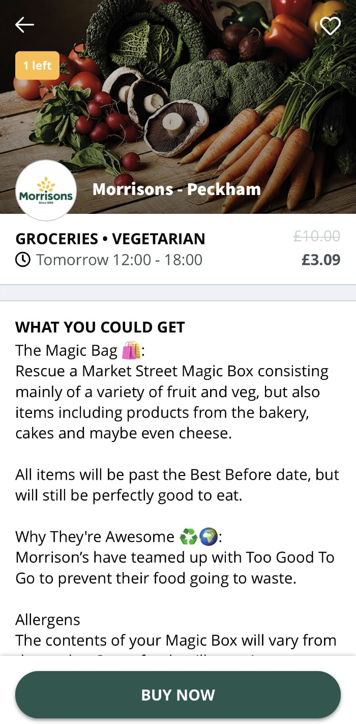 morrisons too good to go