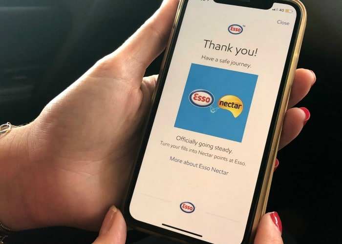 paying using Esso App