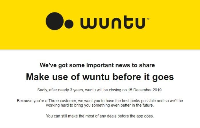 wuntu app closing