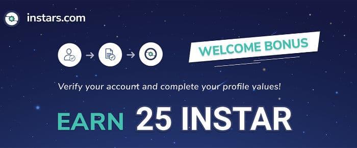 instar welcome bonus