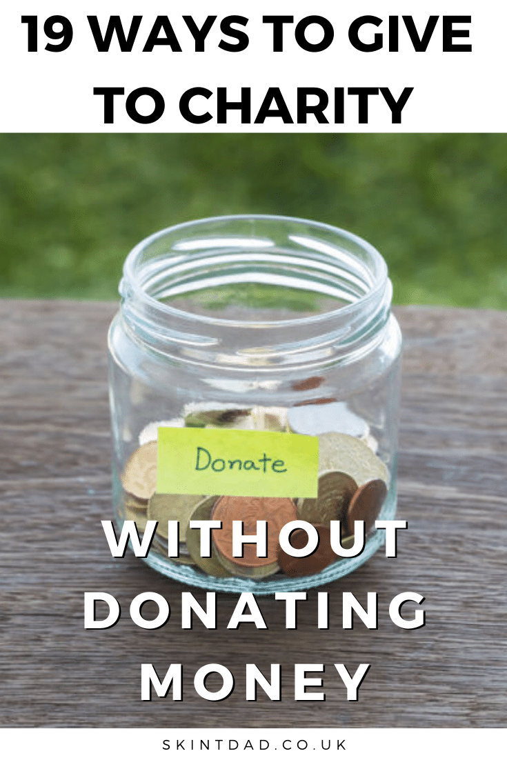 give to charity with no money