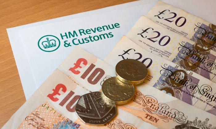 hmrc form and money