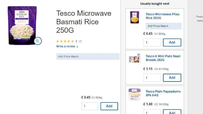 Aldi Tesco Price Match