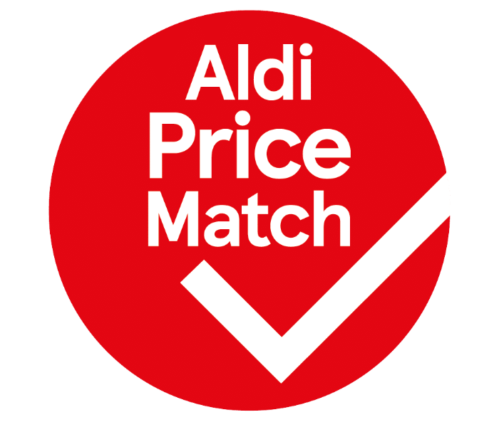 red Aldi Price Match bubble