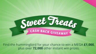 Tobcashback sweet treats giveaway 2021