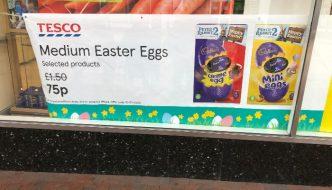 half price easter eggs deals tesco