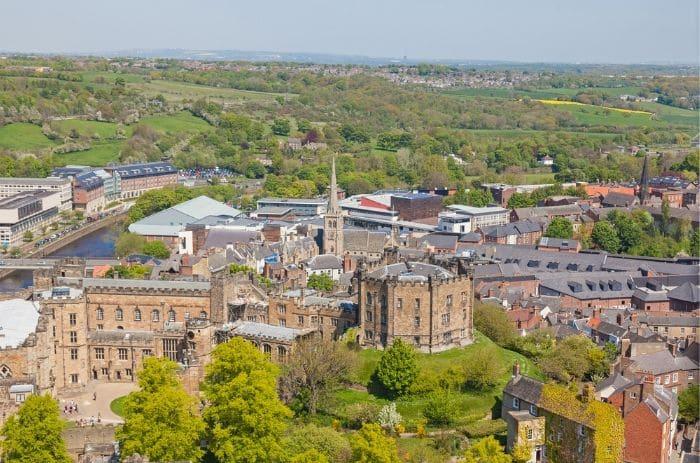 Aerial View of Durham Castle