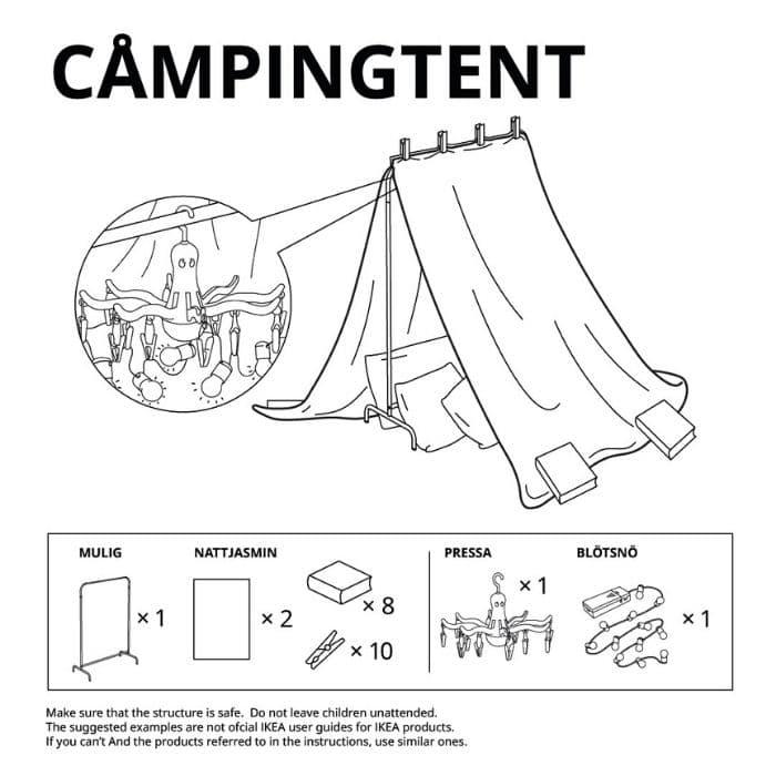 campingtent ikea fort