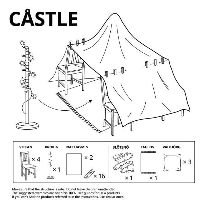 castle ikea fort