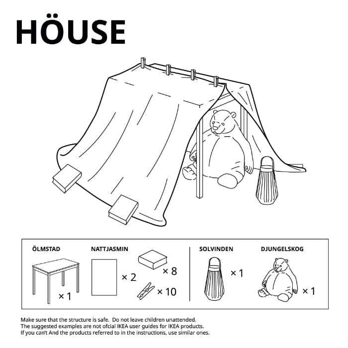 house ikea fort