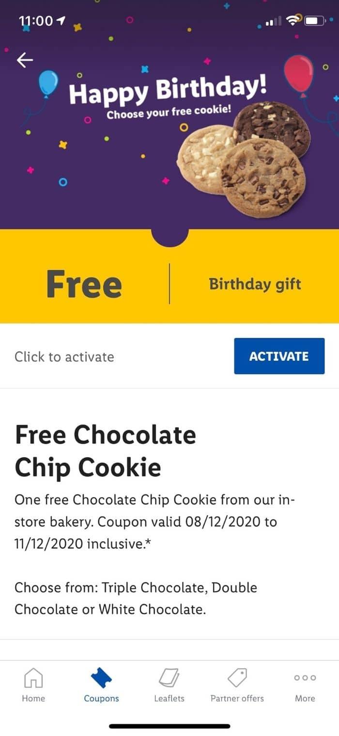 lidl app birthday freebie
