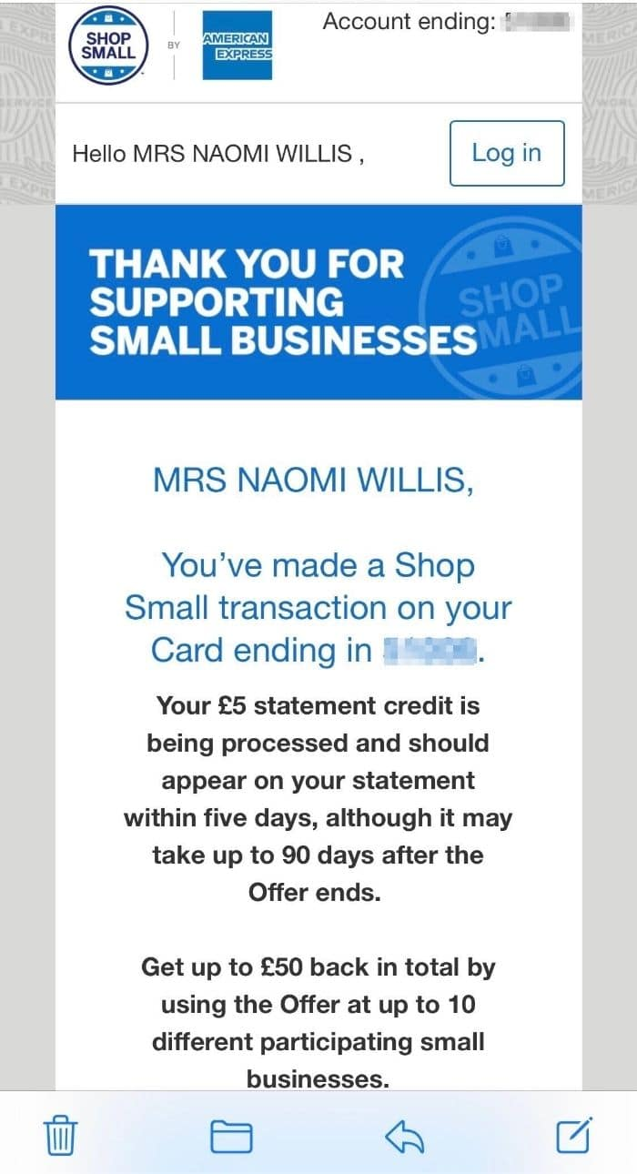 Shop Small email