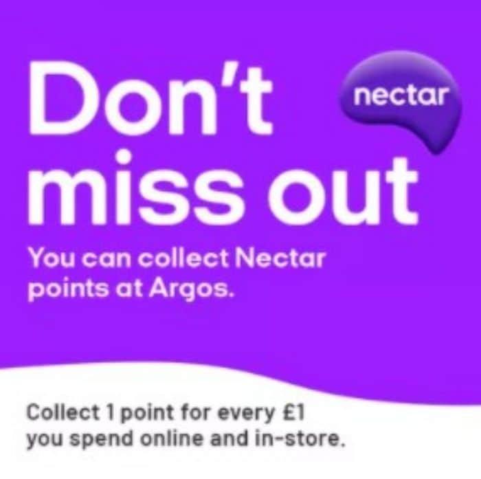nectar points at argos