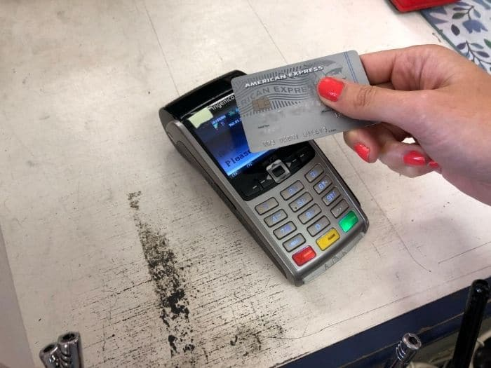 paying with Amex