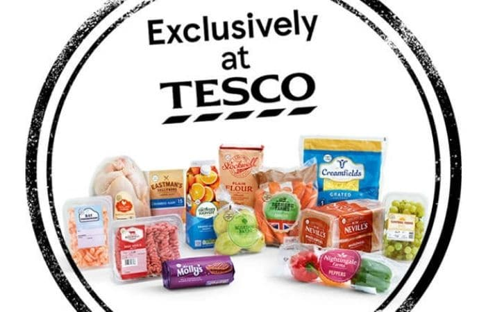 Exclusively at Tesco brand products