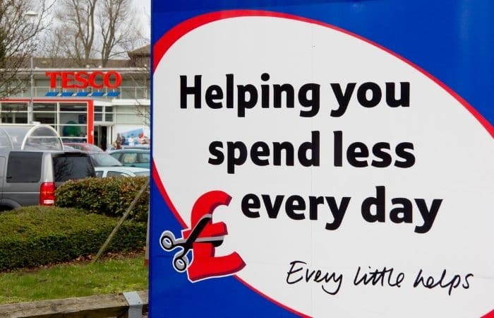 tesco every little helps sign