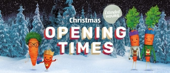 Aldi christmas opening times