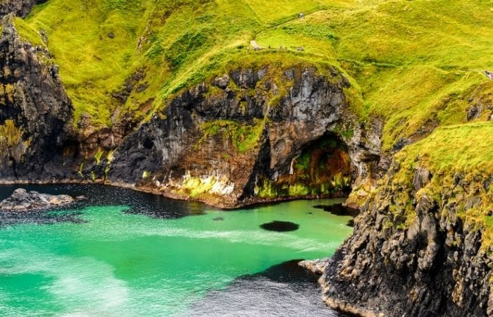 Nature of Carrick-a-rede Causeway coast route National Trust Northern Ireland