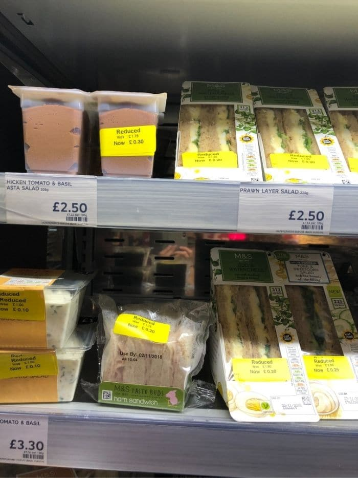 What time do Marks and Spencer reduce food