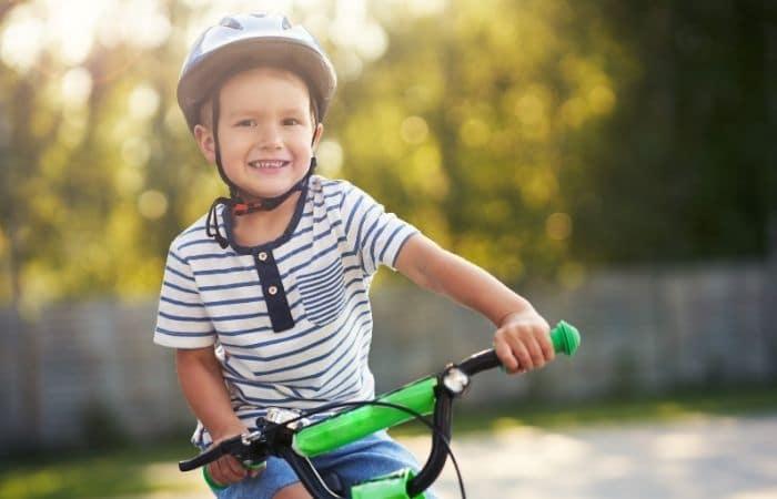 child riding a bike