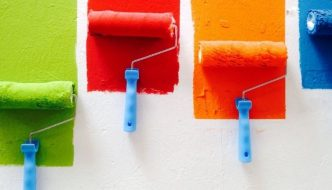 colourful-paint-roller-brushes