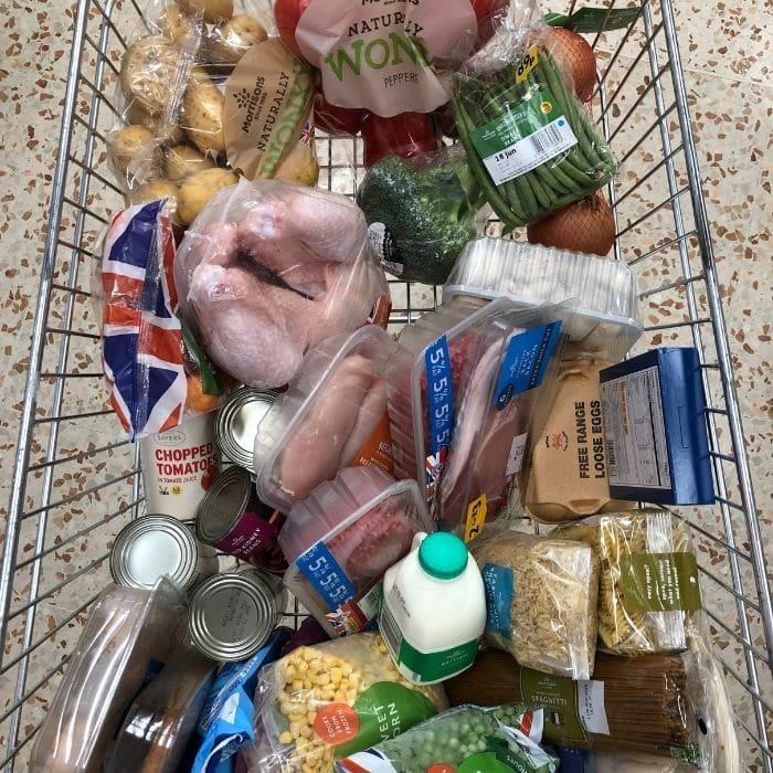 £ 40 shopping at Morrisons