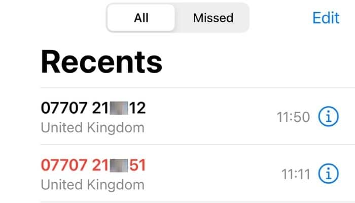 calls from numbers similar to mine