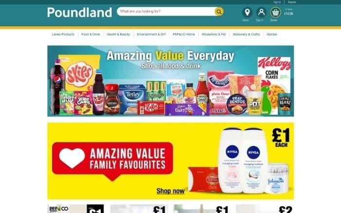 shop online with poundland